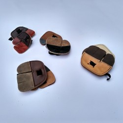 Leather finger guard tab